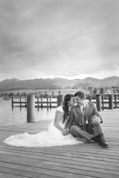 Docks wedding photo