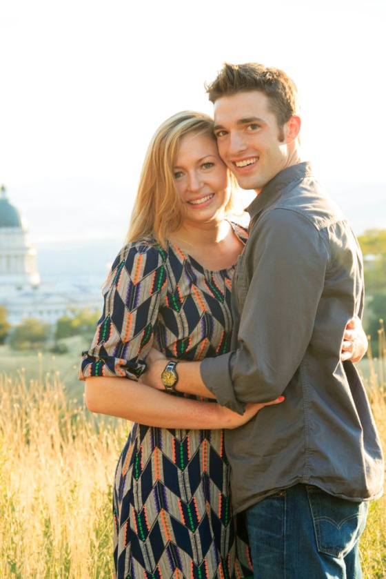 Utah capitol engagement picture