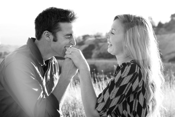 Grassy field engagement photo