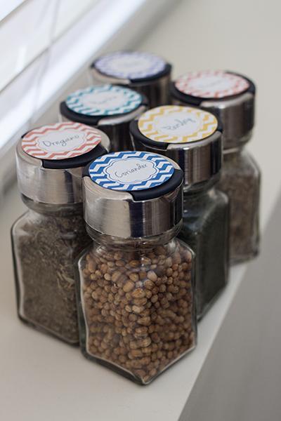 Printable spice jar labels