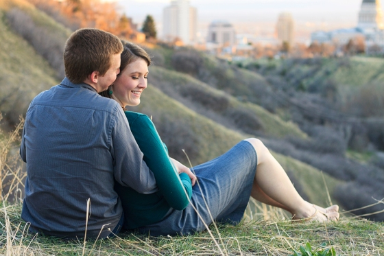 Salt Lake City engagement photo