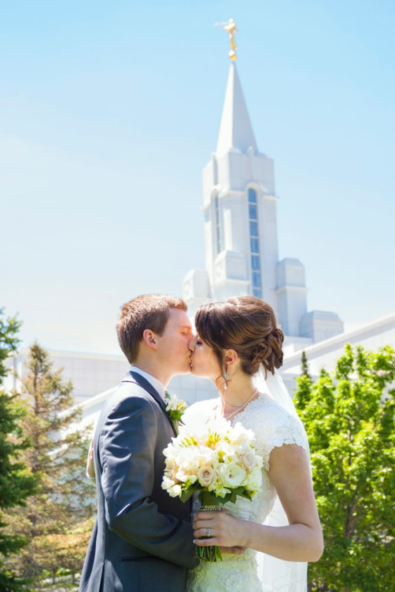 Bountiful temple wedding