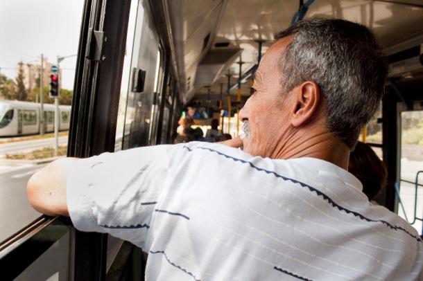 Jerusalem bus rider