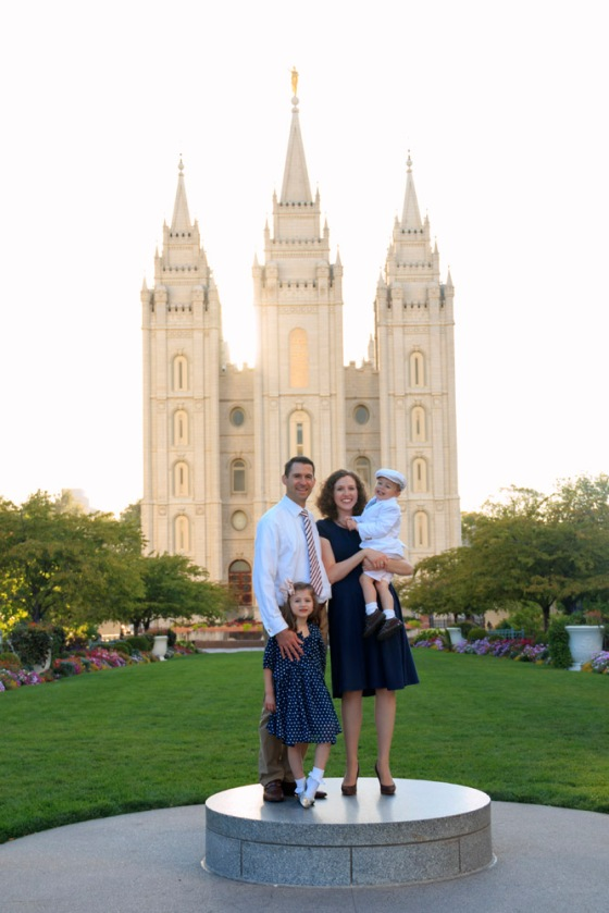 Temple square family pictures