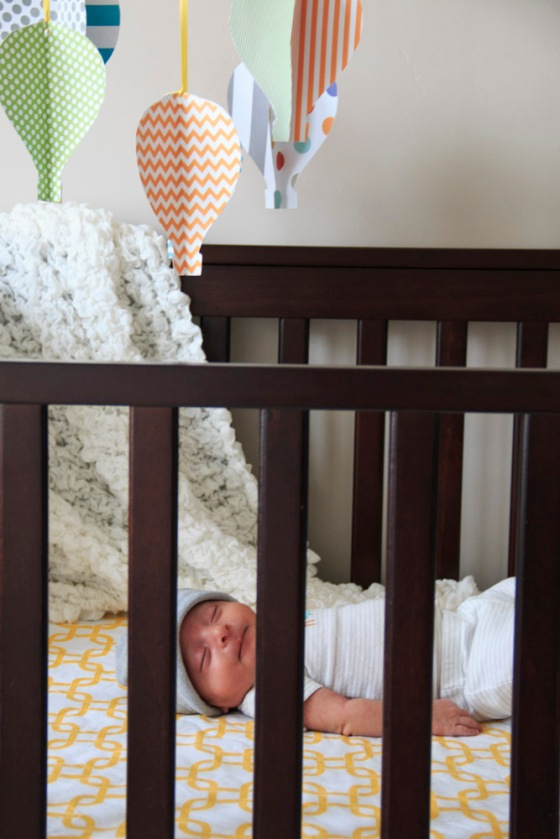 Indoor baby photography
