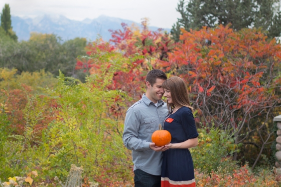 Pumpkin pregnancy announcement