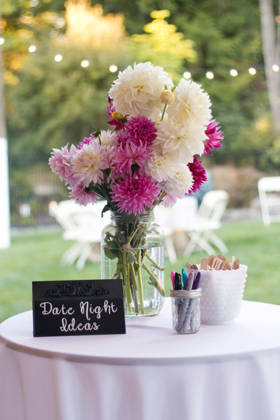Wedding dahlias