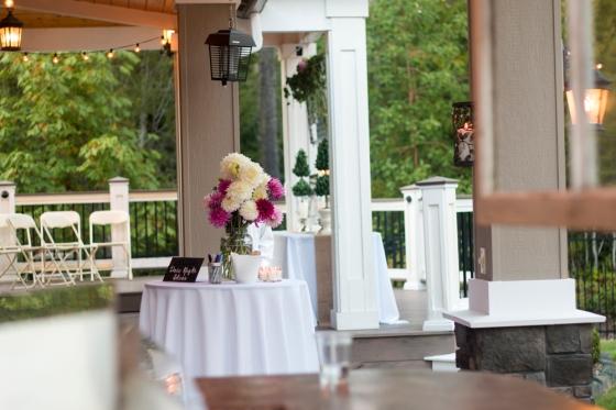 Wedding dahlias