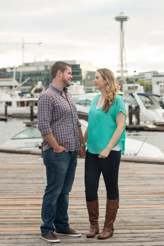South Lake Union Engagement Photo